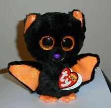 Ty Beanie Boos - ECHO the Halloween Black Bat (6 Inch) NEW - MWMT - Very Cute