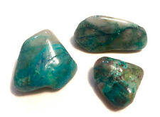 3 pcs Chrysocolla Malachite Azurite Crystal Polished Rock Tumbled Gemstone REIKI