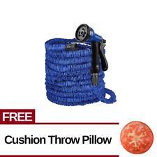 Expandable Flexible Garden Hose(up to 125 ft) Free Throw Pillow (Tomato)
