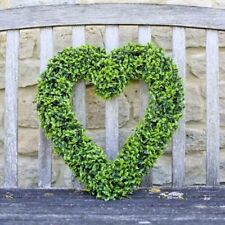 Artificial Topiary Hanging Heart Door Wreath Garden Wedding Decor Leaves Leaf UK