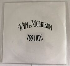 Van Morrison 'Too Late' Rare Promo CD!!