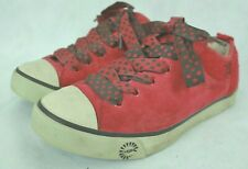 "UGG AUSTRALIA ""EVERA 78"" WOMEN'S RED NUBUCK SNEAKERS SIZE 8.5US/7UK/39.5EU VGC!"