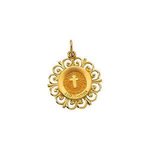 Konfirmation Medaille IN 14K Gelbgold
