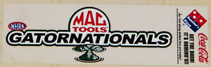 "VINTAGE ""NHRA MAC TOOLS GATOR NATIONALS"" DRAG RACING STICKER-MINT CONDITION!!"