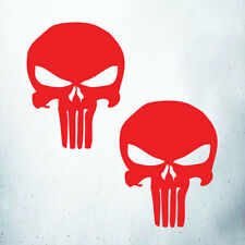 2 Punisher Car/Laptop/Wall Art/Window Vinyl Decal Sticker Red