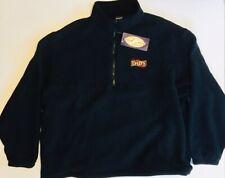 Vintage 1998 DAD'S Pet Foods Since 1933 XL Swingster Black Polar Fleece USA