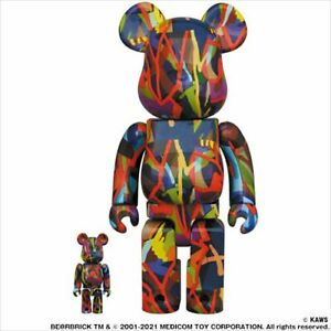 BE@RBRICK KAWS TENSION 400% 100% set figure bearbrick Medicom Toy Tokyo First