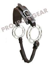 Hackamore Bitless Horse Bit English Western Adjustable Leather (BROWN)