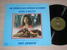 TONY ESPOSITO -UN COMPLICATO INTRIGO DI DONNE,VICOLI..:COLONNA SONORA-LP 33 GIRI