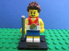 genuine LEGO SERIES olympic team gb RELAY RUNNER minifigure COMPLETE 8909 27F