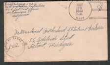 1943 WWII Naval censor cover Erwin King 45th Construction Battalion Adak Alaska