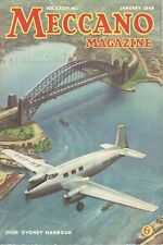 1949 JANUARY 33595  Meccano Magazine Cover Picture  OVER SYDNEY HARBOUR