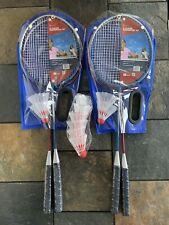 4 Badminton Rackets w/4+ 6 shuttlecocks- Back Yard/Outdoor Family Activity Games
