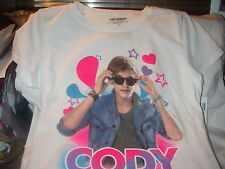 CODY SIMPSON AUSSIE SINGER ROCK AND POP ICON STAR TEEN WHITE T-SHIRT SIZE LARGE