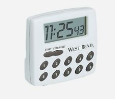 NEW West Bend 2-Function TIMER Kitchen Cooking LCD White Upto 100 Hours 40005X