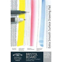 Winsor & Newton Artists Bristol Board Extra Smooth White Card Pad 250g A4