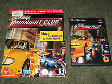 Midnight Club Street Racing Lot Complete 1st Game & Official Strategy Guide PS2