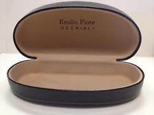NEW Emilio Fiore Occhiali Black Sunglass Protective Hard Case + FREE GI