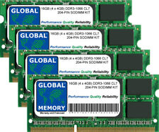 16GB (4 x 4GB) DDR3 1066MHz PC3-8500 204-PIN SODIMM KIT MEMORIA RAM per Laptop