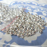 100Pcs Loose Beads Mini Jingle Bells Christmas Halloween Decor DIY Crafts cn