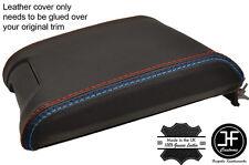 Costura de Cuero Real Negro M Cubierta Deslizante Apoyabrazos se Ajusta BMW 5 Series E39 96-03