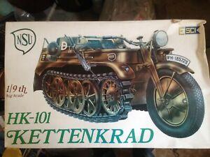 Esci Modellino 1/9 Rara Moto  Kettenkrad NSU Seconda Guerra Mondiale