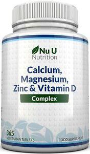 Zinc Calcium Magnesium Vitamin D Osteo Complex Supplement 365 Veg tablets