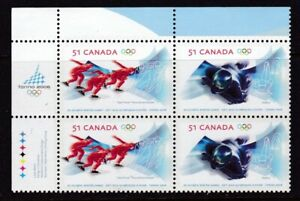CANADA #2143-2144a MNH 20th WINTER OLYMPIC GAMES UPPER LEFT CORNER BLOCK