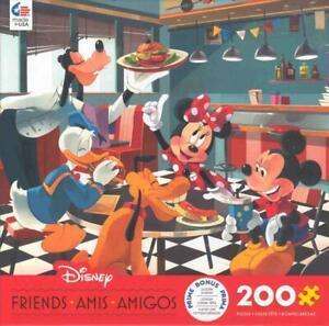 Disney Friends 200 Pc Ceaco Jigsaw Puzzle Disney Diner NIB
