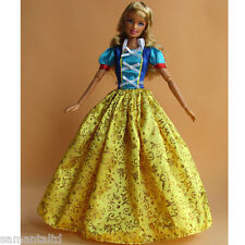 Snow White Dress Clothes Outfits for Barbie Doll Girl's Gift Party Wear