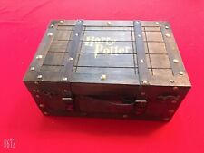 More details for wood storage box trunk retro distressed harry potter set of two