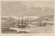 JULES NOEL (1815-1881), Hafen von Reykjavik, 1868, Holzstich