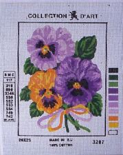 Collection d'Art needlepoint Flowers, pansies, tulips, rose, sunflowers, poppies
