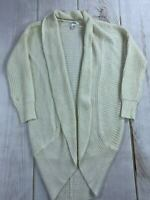 Say What Womens Long Sleeve Open Front White Cardigan Sweater Size Small