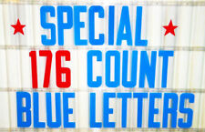 """8"""" Flexible Portable Marquee Blue & Red Condensed Sign Letters 176 pc set"""