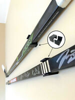 1 SET HOCKEY STICK HANGER HOLDER DISPLAY NHL AUTOGRAPHED GAME USED WALL MOUNT
