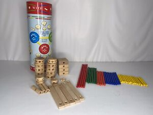 SCHYLLING Super MAKIT TOY Engineer Classic Wood Construction Toy