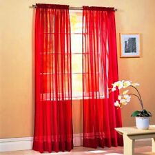 Elegant Solid Sheer Panel Window Curtain - All sizes - All colors - 1 Panel