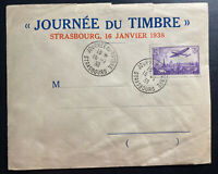 1938 Strasbourg France First Day cover FDC Airmail