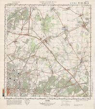 Russische sowjetische militärische topographische Karte - BERLIN (Nord-Ost),1985