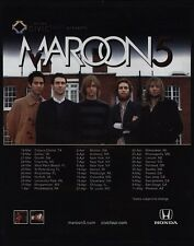 2005 Maroon 5 & Adam Levine Concert Tour Vintage Advertisement