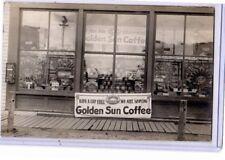 Real Photo Postcard RPPC - Golden Sun Coffee Pulver Pepsum Gum Vending Machine