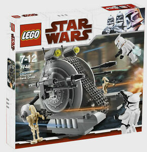LEGO 7748 STAR WARS Corporate Alliance Tank Droid Trooper Brand new sealed