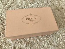 Prada Beige Peach Gold Storage Shoe Box