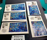 5 Chagall 1967 Stained Glass Window Scott 179 Artcraft Cachet FDOI Free Ship 431