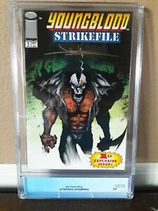 Youngblood: Strike file #1 CGC 9.8. Signed by Jae Lee on back cover.
