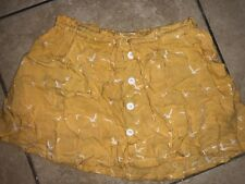 JUNIORS SIZE SMALL YELLOW SKIRT WITH WHITE FLYING BIRDS BY O'NEILL ELASTIC WAIST