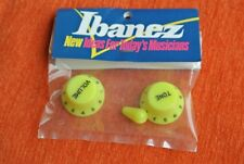 Boutons IBANEZ guitare Knobs JEM VAI GUITAR RG JAUNE YELLOW OLD STOCK GENUINE