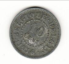 BELGIQUE 10 CENTIMES  ZINC 1916