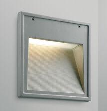 Aplique exterior empotrado en aluminio gris